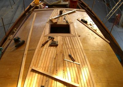 Boat Restoration - construction of steam bent deck