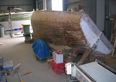'Lochiel' Timber Boat Restoration - before