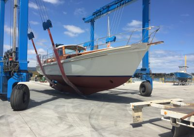 'Why Knot' Motor Sailor Total Restoration - launching at BoatYard Martha Cove - 2