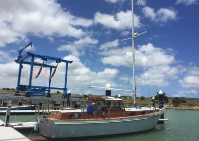 'Why Knot' Motor Sailor Total Restoration - ready to sail to Tasmanian for the Wooden Boat Festival -