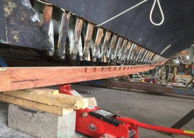 'Jessie' Couta Boat full new keel replacement - stage 2