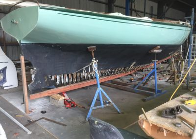 'Jessie' Couta Boat full new keel replacement - stage 3