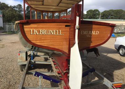'IK Brunell' - Corsair Boats Restoration - transom