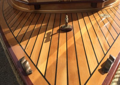 'IK Brunell' - Corsair Boats Restoration - deck