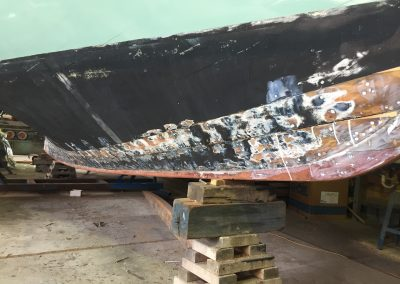 'Jessie' Couta Boat full new keel replacement - stage 4