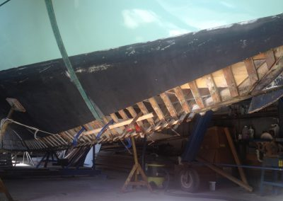 'Jessie' Couta Boat full new keel replacement - stage 1